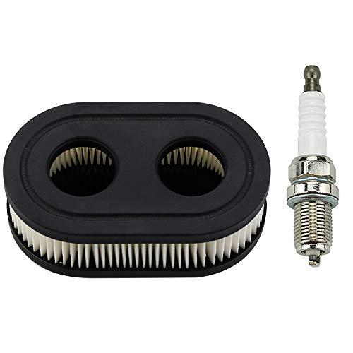 Leopop Oval Air Filter with Spark Plug fit Troy-bilt TB110 TB115 TB200 TB230 TB330 TB370 Craftsman Lawn Mower Parts Kit