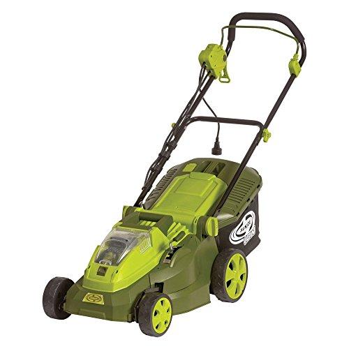 Sun Joe iON16LM-HYB 40V 40 Ah Hybrid Cordless or Electric Lawn Mower 16
