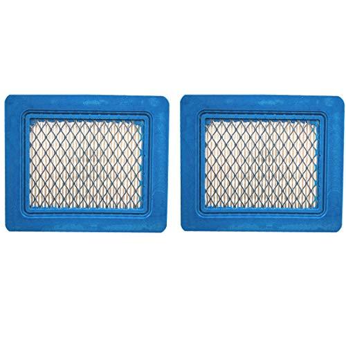 2 Pack 491588S Flat Air Filter Cartridge for Briggs Stratton 491588 399959 4942245 4915885 35-65 HP Quantum Engines Push Mower Lawn Mower Air Filter