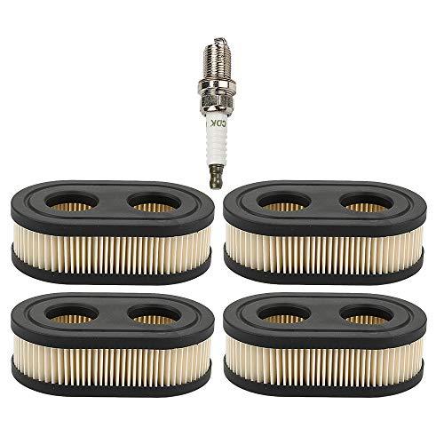 Savior 4pcs 593260 Air Filter for Briggs and Stratton 798452 798339 334404 4247 5432 5432K Push Lawn Mower 500ex 550e 550ex 575ex 625ex 675exi 725exi Series Engines