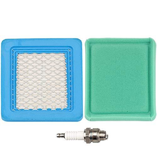 BS-491588S BS-491588 Air Filter  Pre Cleaner Spark Plug for MTD Troy-Bilt TB110 TB130 TB210 TB230 TB270ES TB280ES TB320 TB330 TB370 TB380ES TB449E TB466 TB566 TB672 TB866XP Push Lawn Mower Parts