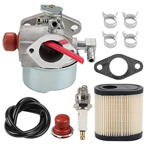 Hilom 640271 640303 640350 Carburetor with 36905 Air Filter Spark Plug Gasket for Tecumseh LEV100 LEV105 LEV120 LV195EA LV195XA Toro Recycler Lawnmowers Engines
