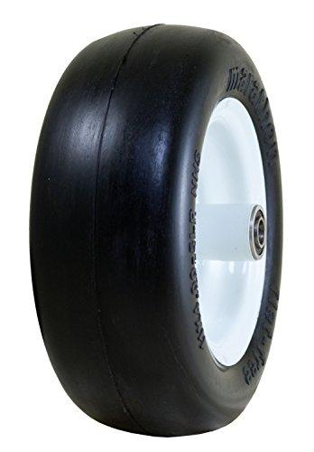Marathon 11x400-5 Flat Free Lawnmower Tire on Wheel 5 Hub 12 Bearings