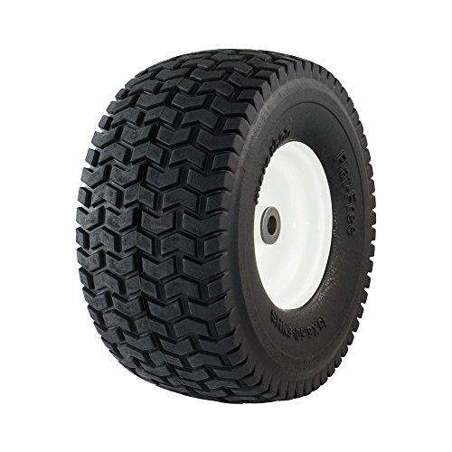 Marathon 30426 15x650-6 Flat Free Lawnmower Tire on Wheel 3 Hub 34 Bushings