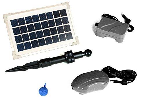 PKSolar 35W Solar Pond Oxygenator  Aerator with Battery Backup