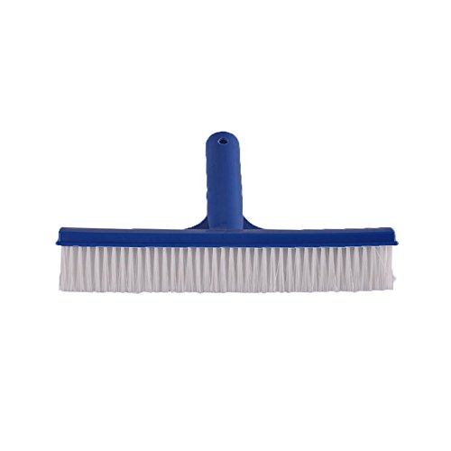 SupplyPro Pool Brush 10 Wide Durable Pool Floor Wall Cleaning Tool Pool Broom Algae Remover Scrubber w Strong Connector Soft Nylon Bristles for Cleaning All Pool Surfaces Plastic Brush