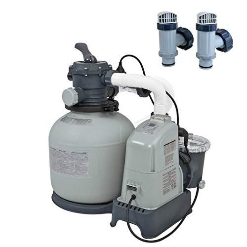 Intex Above Ground Pool 1600 GPH Saltwater System Sand Filter Pump Valves