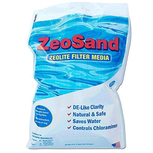 Zeo Inc ZeoSand-50 ZeoSand Swimming Pool Sand Replacement Alternative Filter Media 50 P White