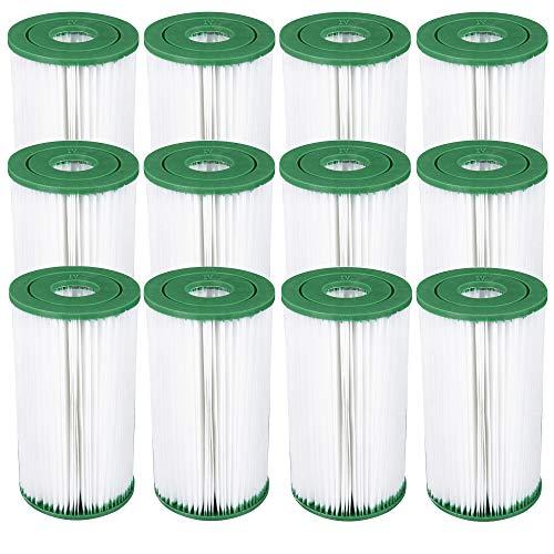 12 Coleman Swimming Pool Filter Pump Replacement Cartridges Type IV Type B  90358