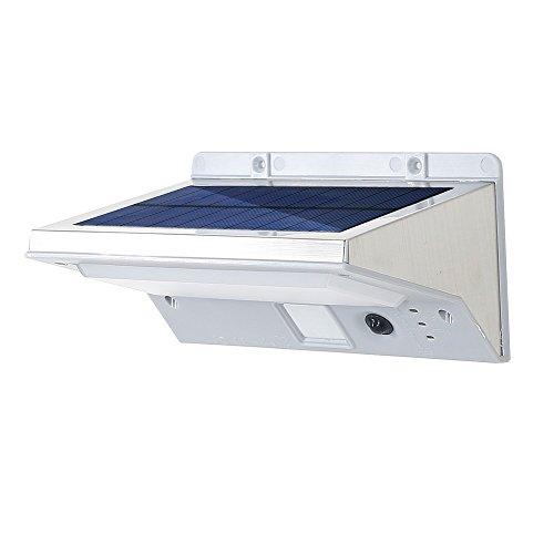 Solar Motion Sensor Lights Security Weatherproof Wireless Outdoor Lighting Stainless Steel Led Solar Wall Light
