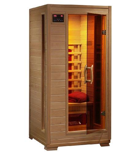 1-2 Person Hemlock Infrared Sauna W 3 Ceramic Heaters