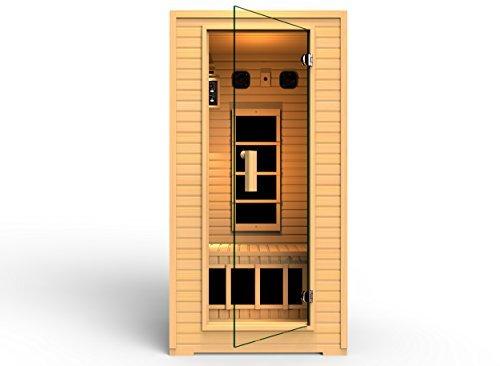 2014 JNH Lifestyles 1-2 Person Far Infrared Sauna 4 Carbon Fiber Heaters