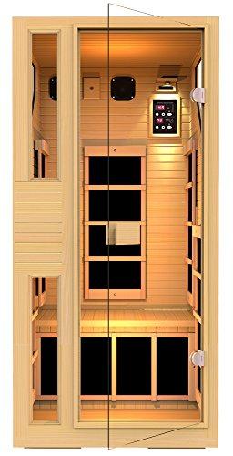 JNH Lifestyles NE1HB1 ENSI Collection 1 Person NO EMF Infrared Sauna Limited Lifetime Warranty