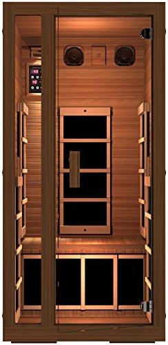 Jnh Lifestyles Freedom 1 Person Canadian Western Red Cedar Wood Far Infrared Sauna 6 Carbon Fiber Heaters 5 Year