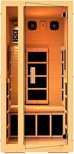 Jnh Lifestyles Joyous 1 Person Far Infrared Sauna 6 Carbon Fiber Heaters 5 Year Warranty