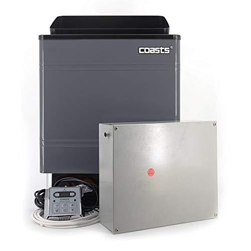 Coasts AM60MID3 Sauna Heater 6 kW 240V CON 3 Digital Controller Galvanized Sheet Shell for Spa Sauna Steam Room