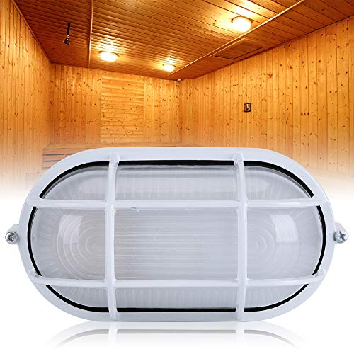 Neufday Lamp Oval Round Explosion Proof Vapor-Proof Sauna Steam Room Light Lampshade GuardRound