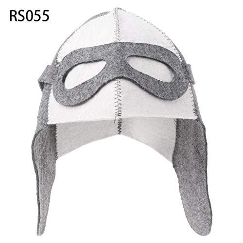 SimpleLif Wool Felt Sauna Hat Anti Heat Russian Banya Cap for Bath House Head Protection