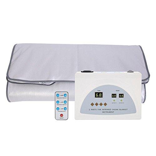 Yosooo Far Infrared Heat Sauna Blanket Digital Sauna Therapy Blanket for Body Shape Slimming Fitness Anti Ageing Beauty Machine US Plug 110V