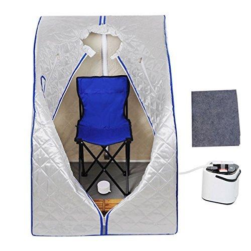 2l Portable Steam Sauna Tent Spa Detox Weight Loss W Chair Silver