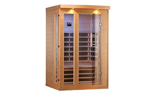 2 Person Hemlock Infrared Sauna w 8 Carbon Heaters