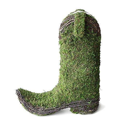 Marshall Home Garden Moss Cowboy Boot Planter