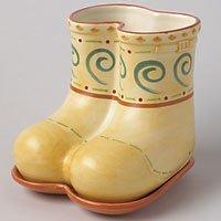 Pfaltzgraff Villa Della Luna Stoneware Boots Planter Set