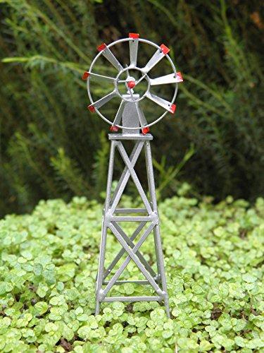 Miniature Dollhouse Fairy Garden Accessories  Scale Small Iron Windmill