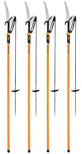 Fiskars 393951-1001 Extendable Pole Saw Pruner 1 Inch Cut Capacity Orange 393 Pack of 1 Pack of 4