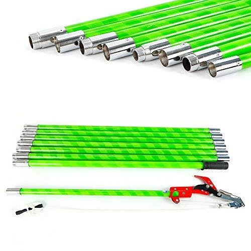 FlyHero 26 ft Tree Pruner Trimmer Saw Blade Pole Kit 26 ft Length Pole Pruning Trimming Set