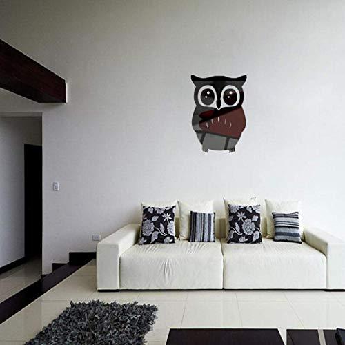 Bibmmo Black Owl Mirror Wall Sticker Petrol Chain Saw Woodcutting Saw for Farm Garden Saw Accessories Black