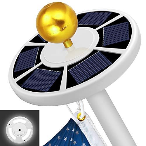 Solar Flag Pole Light MOICO 42 Super-Bright Solar Powered LED Flagpole Light Waterproof Solar Light for in-Ground Poles 15-20 Ft Energy Saving LEDs Auto OnOff Night Lighting