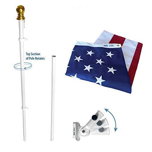 US Flag WSpinning Pole Nylon