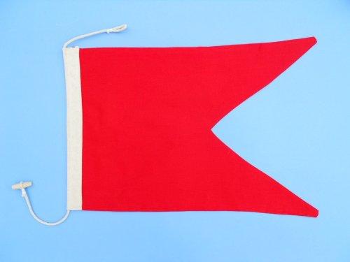Letter B 20 Cloth Nautical Alphabet Flag - Nautical flag decorative cloth flag nautical accessories nautical theme décor nautical wall hanging nautical sign
