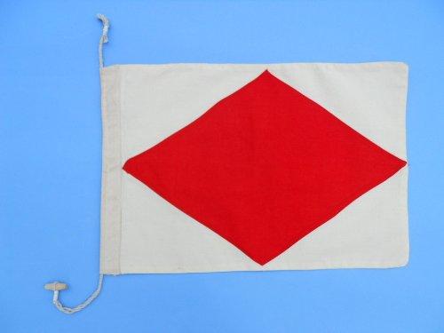 Letter F 20 Cloth Nautical Alphabet Flag - Nautical flag decorative cloth flag nautical accessories nautical theme décor nautical wall hanging nautical sign