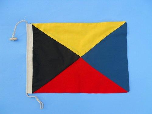 Letter Z 20 Cloth Nautical Alphabet Flag - Nautical flag decorative cloth flag nautical accessories nautical theme décor nautical wall hanging nautical sign