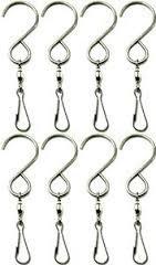 Safebuyenjoy Spinning Swivel Clip Hanging S Hooks Wind Spinner Rotate Spiral Tail Crystal Twister Display Hanger