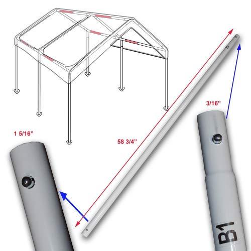 Cross Brace Pole 58 34 for 10 X 20 Caravan Canopy Domain Carport Garage Parts B1