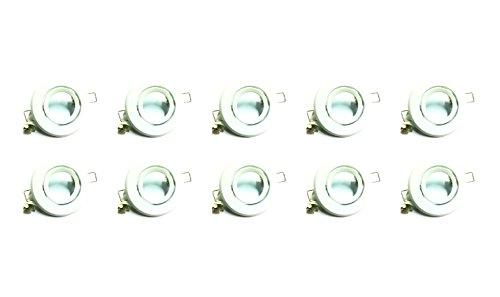 10 Pack Mr16 Matte White Flush Swivel Halogen Led Mounting Can Bracket Fixture Bulb Holder Kitchen Bathroom Under