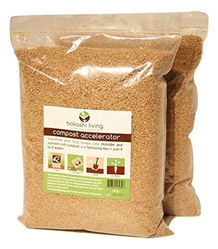 35 lb Premium Bokashi Bran Compost Accelerator 2 x 175lb bags