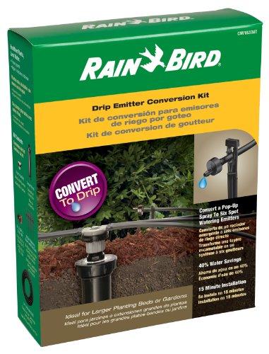Rain Bird Cnv182emt Drip Irrigation Sprinkler Conversion Kit 1800 Series Pop-up To 6 Drip Emitters With Tubing