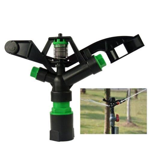 NAVA 2Pcs 1 DN25 PVC Rotary Water Irrigation Gun Sprinkler Nozzle Lawn Spray Head