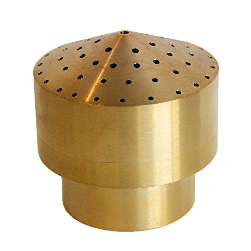 Navadeal 12&rdquo Brass Cluster Water Fountain Nozzle Spray Sprinkler Head