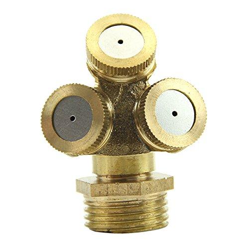 Kangnice&reg 2pcs Brass Agricultural Misting Spray Nozzle Garden Sprinkler Irrigation System