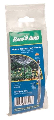 Rain Bird Msh2pks Drip Irrigation Threaded Micro-spray Nozzle 180&deg Half Circle Pattern 2-pack 0 - 103 Spray