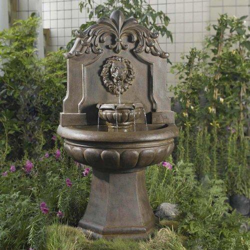 Copper Lion Head OutdoorIndoor Water Fountain