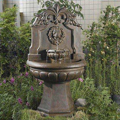 Jeco Copper Lion Head Outdoor Indoor Water Fountain