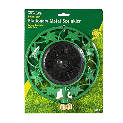 Aqua Plumb Stationary Metal Sprinkler - 8 Pattern with Durable Decorative Metal Base Pack of 6
