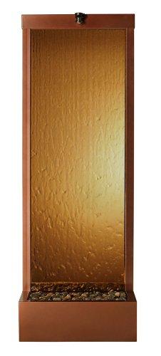 BluWorld Gardenfall 90 in Garden IndoorOutdoor Fountain - Dark Copper Gardenfall with Bronze Mirror