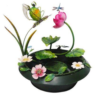 Frog Metal Tabletop Indoor and Outdoor Garden Fountain - Multi Colored